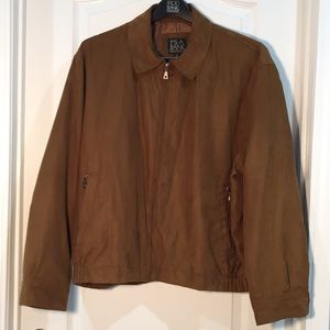 Jos. A. Bank brown microfiber zipped jacket (XL)